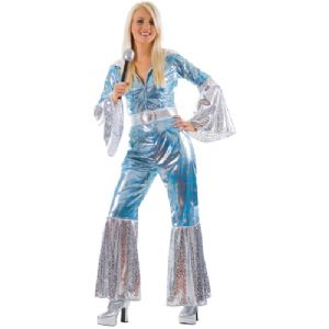 Blue/Silver Ladies Abba Costume